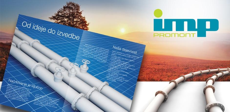 Za podjetje IMP Promont je bila izdelana celostna grafična podoba.