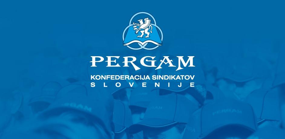 Novo oblikovanje logotipa za sindikat Pergam.