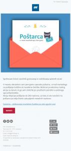 Poštarca je orodje za e-poštni marketing.