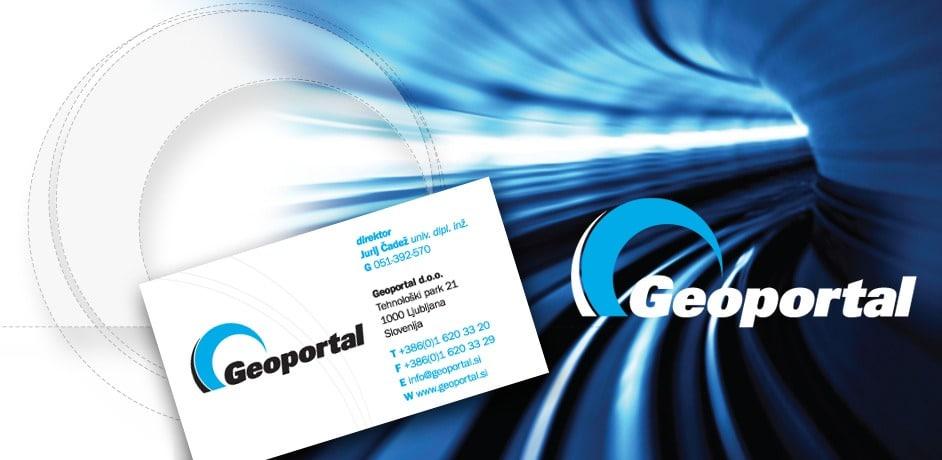 Oblikovanje promocijskih brošur in ostalih tiskovin za podjetje Geoportal.