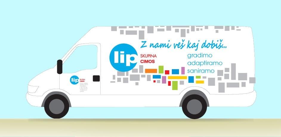 Oblikovanje spletnih strani za podjetje Lip.