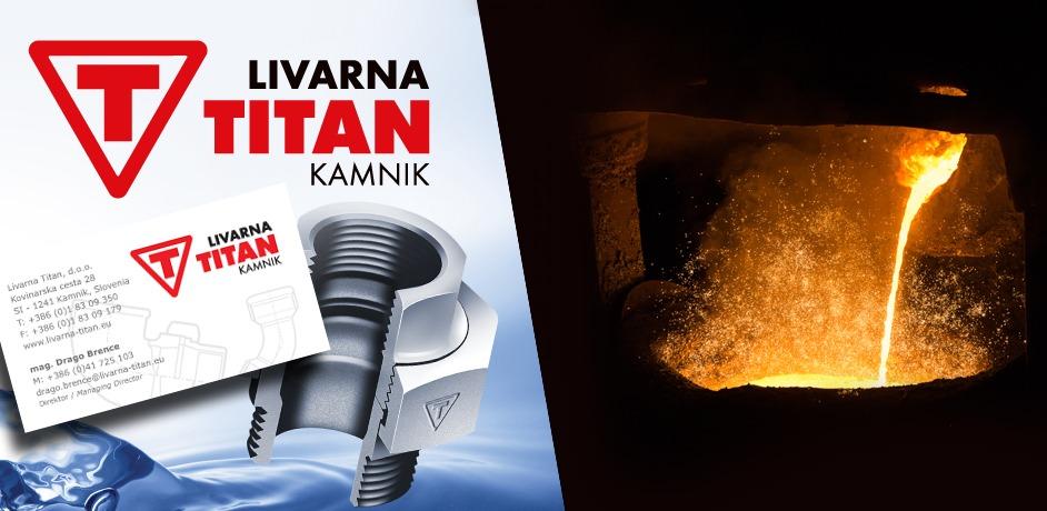Grafično oblikovanje za podjetje Livarna Titan.