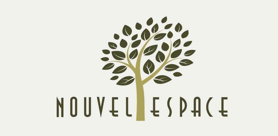 Grafično oblikovanje za blagovno znamko Nouvel Espace.