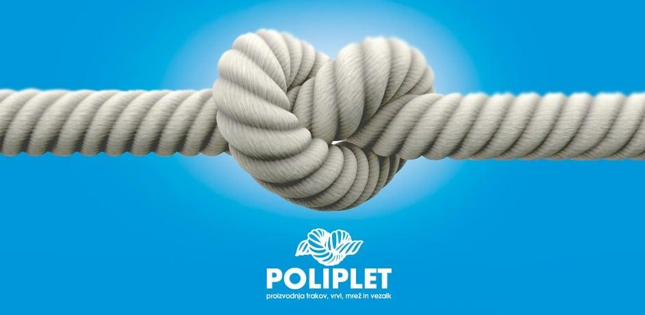 Oblikovna predelava logotipa za podjetje Poliplet.