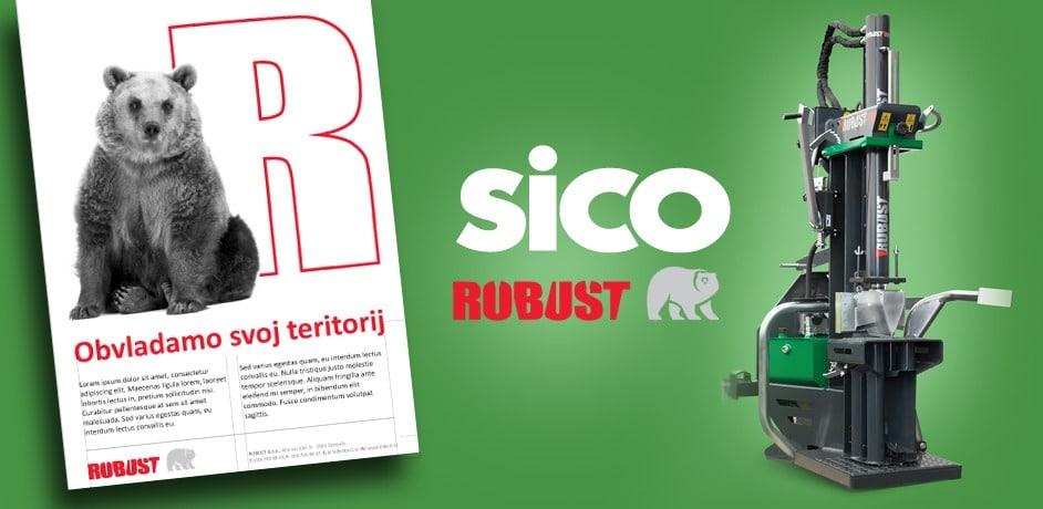 Prenova celostne grafične podobe za blagovno znamko Robust.
