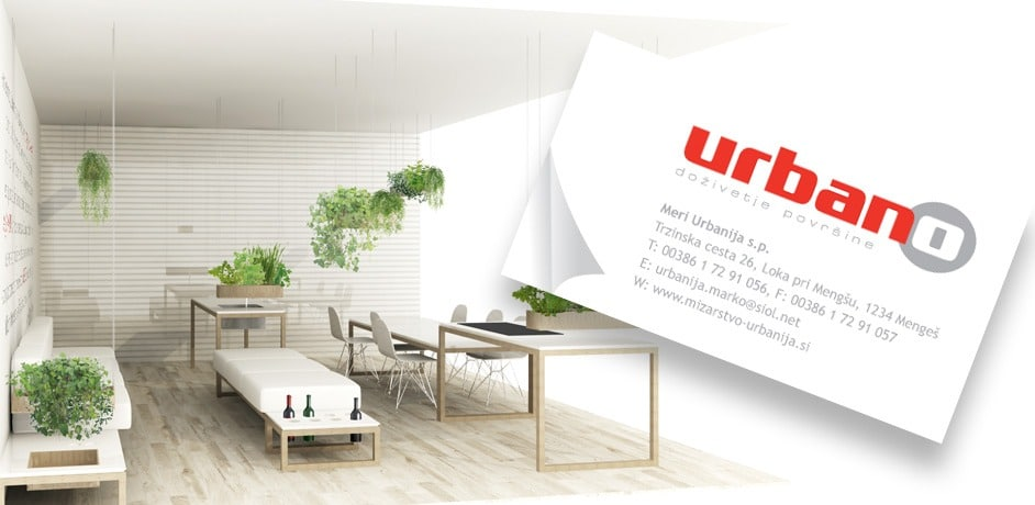 Oblikovanje spletnih strani za podjetje Urbano.