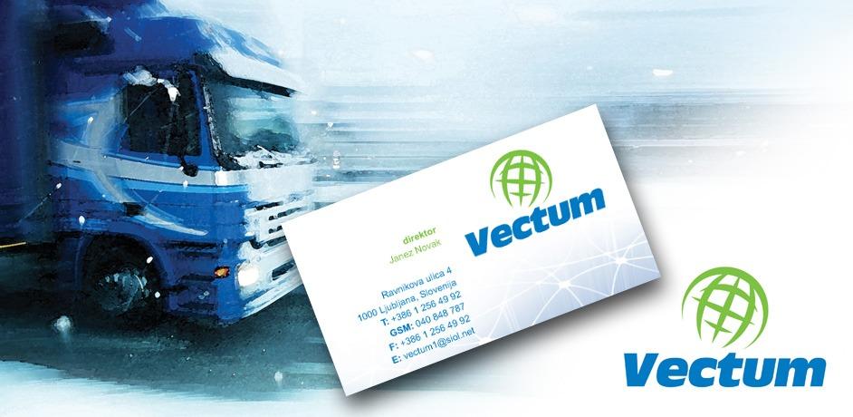 Nova celostna grafična podoba podjetja Vectum.