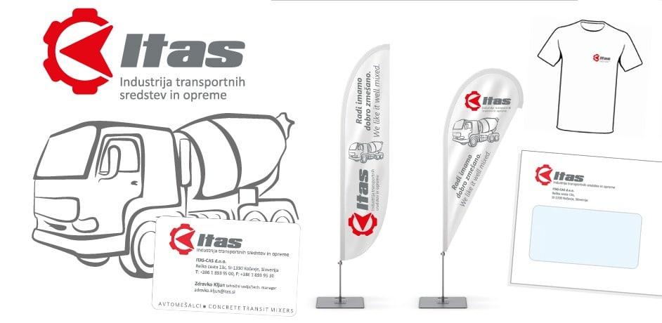 Nova celostna grafična podoba podjetja Itas.