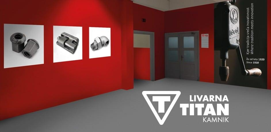 Vizualni koncept notranjih prostorov poslovnega objekta za naročnika Livarna Titan.