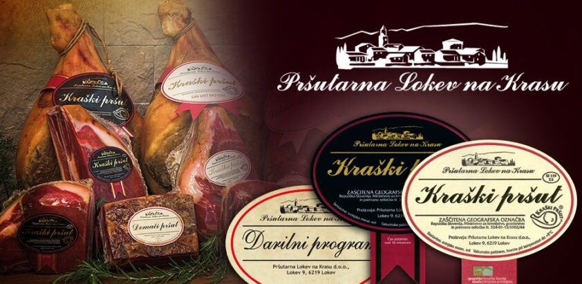 Oblikovanje oglasov za Pršutarno Lokev.