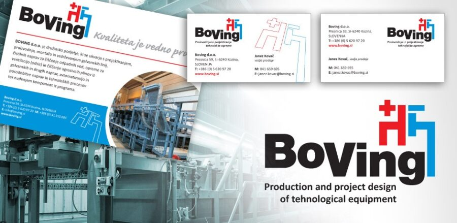 Standardizacija Celostne grafične podobe za podjetje Boving.