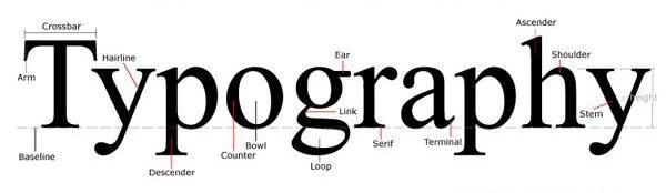 Tipografija je veda o izdelavi črk in pisav ter njihovi uporabi v besedilu.