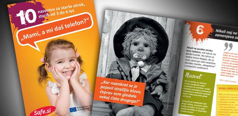 Brošura - varna uporaba interneta pri otrocih.
